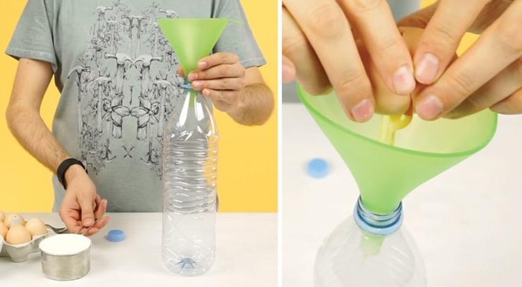 Cómo hacer un crepe usando una simple botella de plástico
