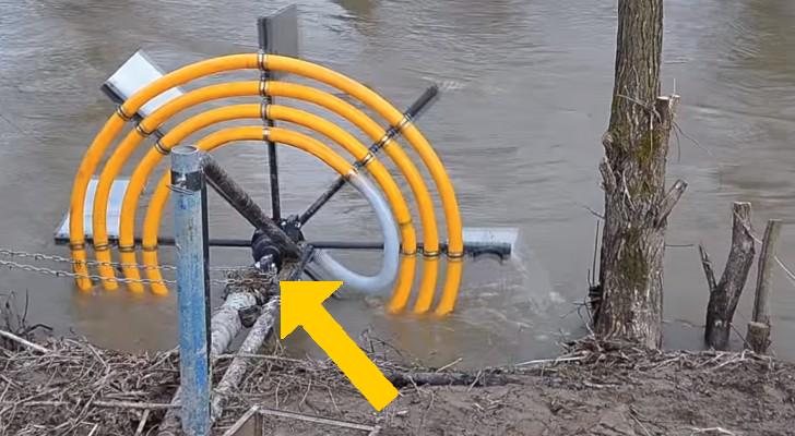 Este ingenioso m todo nos permite sacar agua de un rio sin - Quitar cal del agua ...